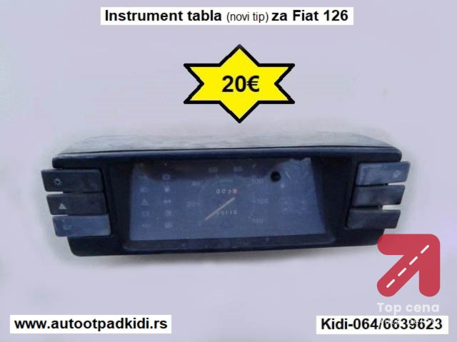 Instrument tabla (novi tip) za Fiat 126