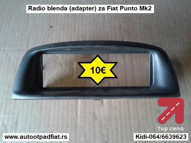 Radio blenda (adapter)za Fiat Punto Mk2